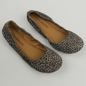 Lucky Brand Emmie Leopard Print Leather Flats